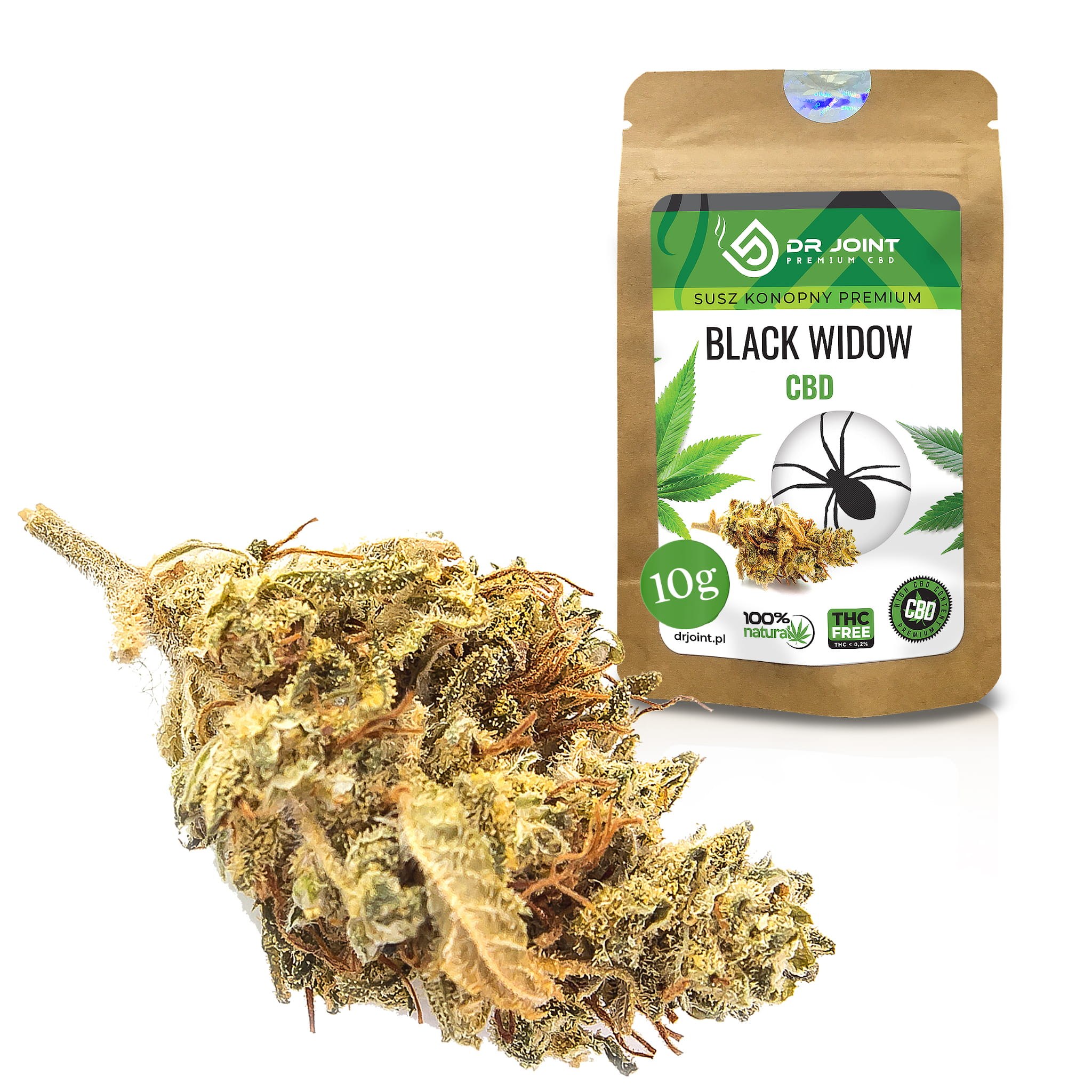Image of Susz Konopny CBD Black Widow 10g
